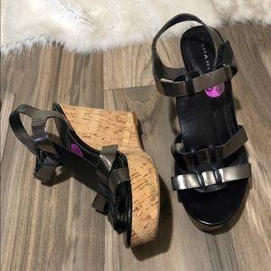 Tahari wedge heels